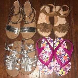 Other - Bundle of 9c girls sandals